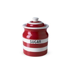 Cornishware red voorraadpot suiker
