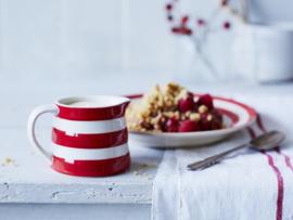 Cornishware gebaksbord rood