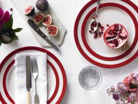 Cornishware lunchbord rood