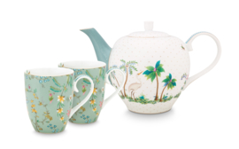 Pip studio set/3 Jolie Tea set Large Flowers Blue