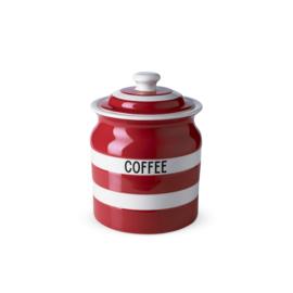 Cornishware red voorraadpot koffie