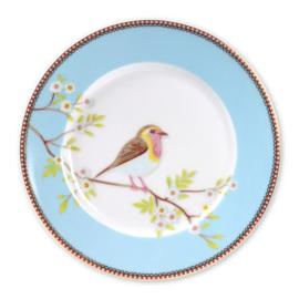 Pip Studio Early bird ontbijtbord blauw