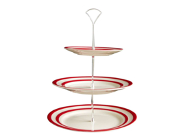 Cornish red etagere 3 laags