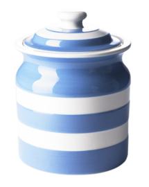 Cornishware Cornishblue voorraadpot blauw