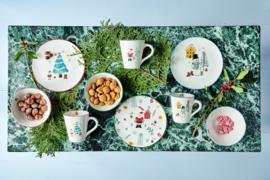 Rice ontbijtkom wit  kerstman