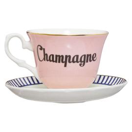Yvonne Ellen kop en schotel Champagne
