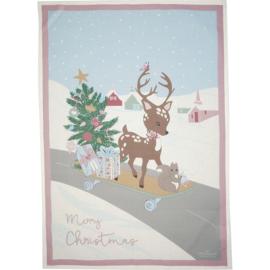 Greengate theedoek kerst bambi