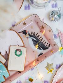 Yvonne Ellen kerst cakeschaal pinguin