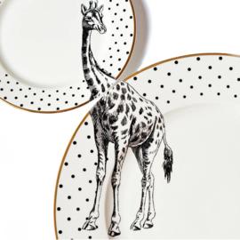 Yvonne Ellen dinerbord zwart wit Giraffe