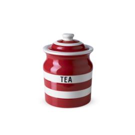 Cornishware red voorraadpot thee