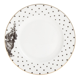 Yvonne Ellen gebaksbord zwart wit hond