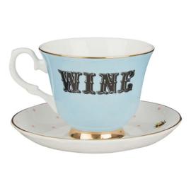 Yvonne Ellen kop en schotel Wijn