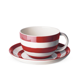 Cornishware red kop en schotel L