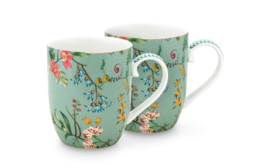 Pip studio set/2 mokken Small Jolie flowers blue