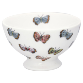 Greengate snack kom S Maisie white vlinder
