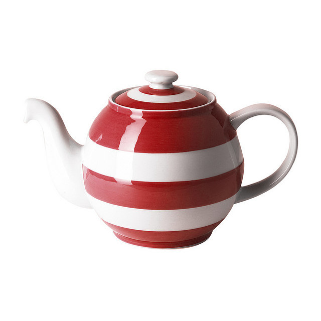 Cornishware rood  theepot Betty 1 pers.