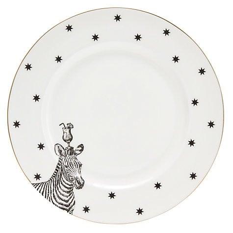 Yvonne Ellen dinerbord zwart wit Zebra