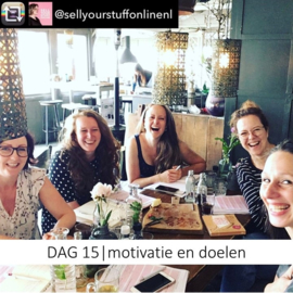 DAG 15 | Motivatie en doelen