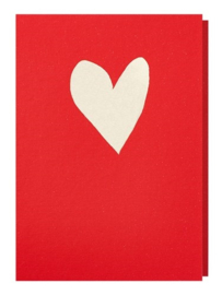 Papette rode kaart hart