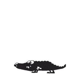 5 x Stempel Krokodil Emil