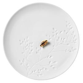 Wit porseleinen schaaltje met gouden musje