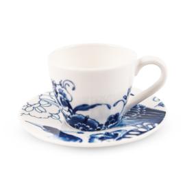 Royal Delft - Peacock Symphony espresso kopje met schotel
