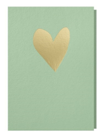 Papette licht groene kaart hart
