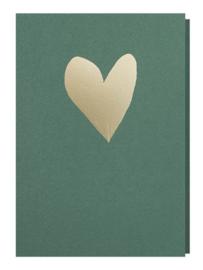 Papette donker groene kaart hart