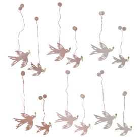 Handmade cotton paper birds s/2 melrose