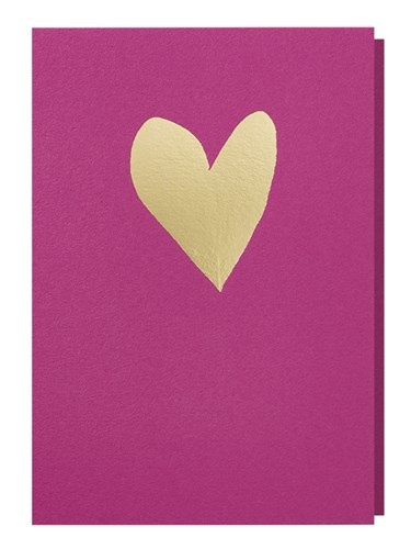 Papette paarse kaart hart