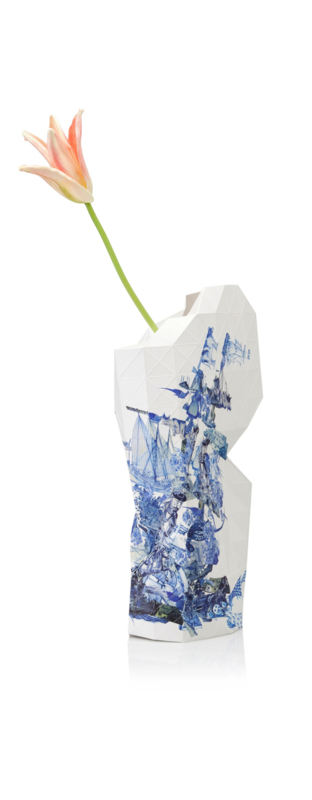 Pepe Heykoop - Papieren Vaas large - Delft Blue Icons