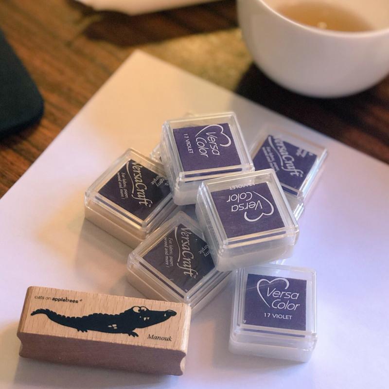 SET Stempel GROTE Krokodil+INKT Small