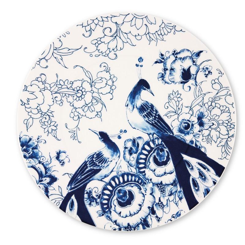Royal Delft - Peacock Symphony onderbord