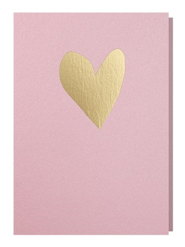 Papette  roze kaart hart