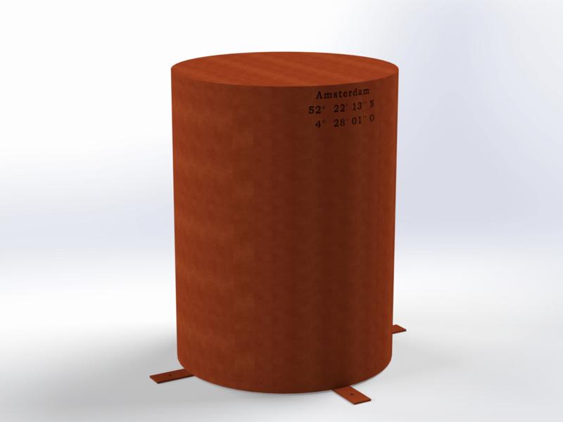 Steel ROUND 600 (CorTenStaal)