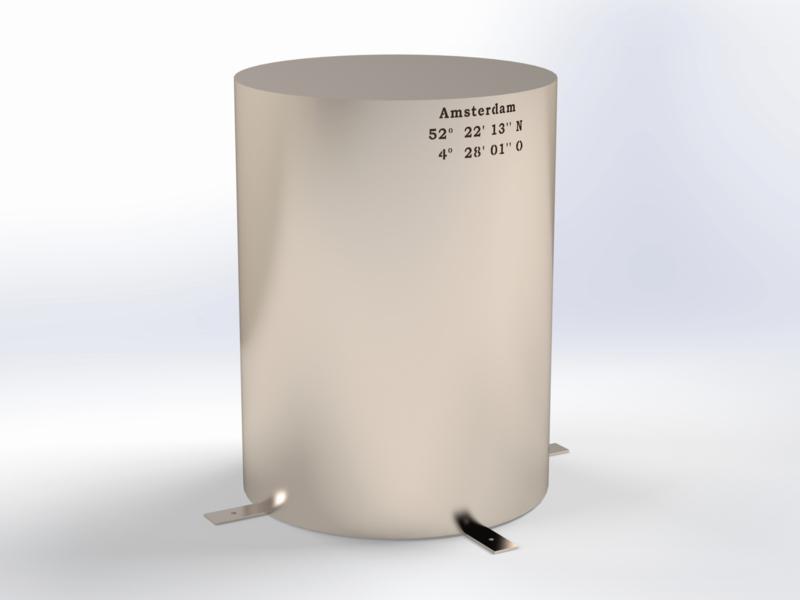 Steel ROUND 600 (RVS)