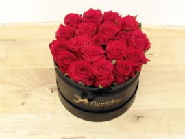 Flowerbox maat M roze rozen