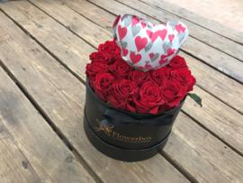 Liefdesbox ballonhartje roze | Maat S