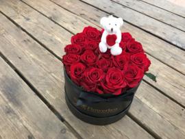 Flowerbox met beertje wit | Maat S