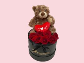 Flowerbox teddybeer Bruin | Maat M