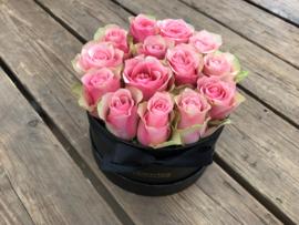 Kraambox roze met ooievaar | Maat S