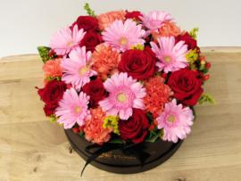 Flowerbox gemende bloemen maat L