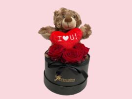 Flowerbox teddybeer bruin | Maat S