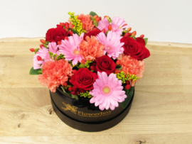Flowerbox gemengde bloemen maat M