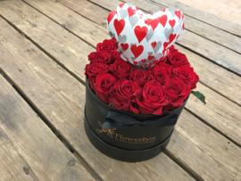 Liefdesbox ballonhartje rood | Maat S