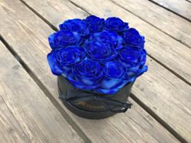 Kraambox blauw met ooievaar | maat S