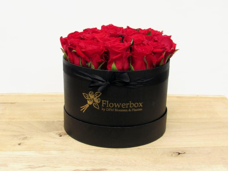Flowerbox maat M rood