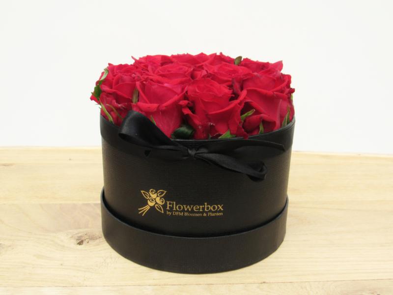 Flowerbox rode rozen maat S