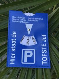 Parkeerschijf tofste juf/meester