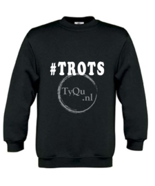 Sweater met #TROTS